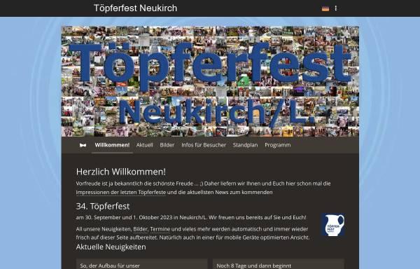 Vorschau von www.toepferfest.de, Töpferei Lehmann Neukirch/Sa.