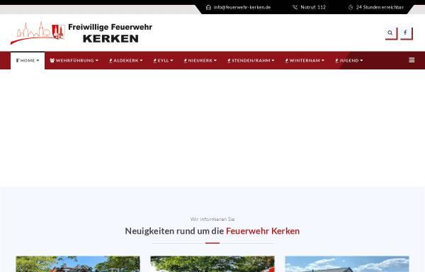 Vorschau von www.feuerwehr-aldekerk.de, Freiwillige Feuerwehr Kerken - Aldekerk