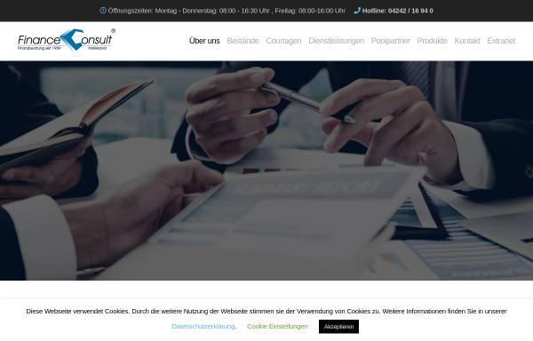 Vorschau von www.financeconsult.de, Finance Consult Maklerpool GmbH & Co. KG