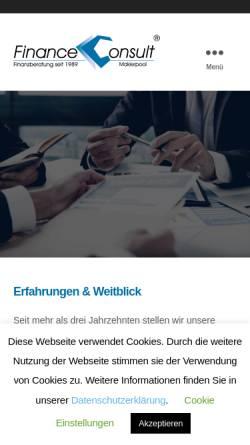 Vorschau der mobilen Webseite www.financeconsult.de, Finance Consult Maklerpool GmbH & Co. KG