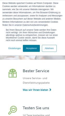 Vorschau der mobilen Webseite www.wifo.com, WIFO GmbH