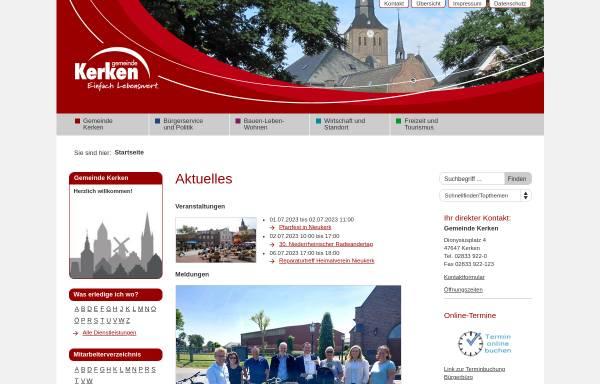 Vorschau von www.kerken.de, Gemeinde Kerken
