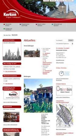 Vorschau der mobilen Webseite www.kerken.de, Gemeinde Kerken