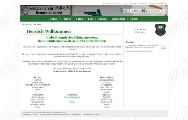 Vorschau von www.schuetzenverein1930ev.info, Schützenverein 1930 e.V. Rennertehausen
