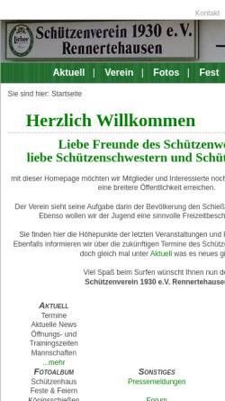 Vorschau der mobilen Webseite www.schuetzenverein1930ev.info, Schützenverein 1930 e.V. Rennertehausen