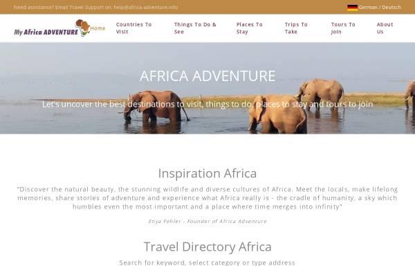 Vorschau von www.africa-adventure.info, Africa Adventure