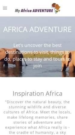 Vorschau der mobilen Webseite www.africa-adventure.info, Africa Adventure