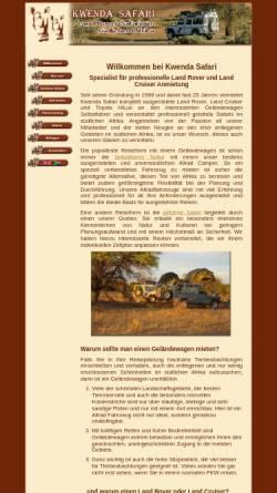 Vorschau der mobilen Webseite www.kwendasafari.com, Kwenda Safari