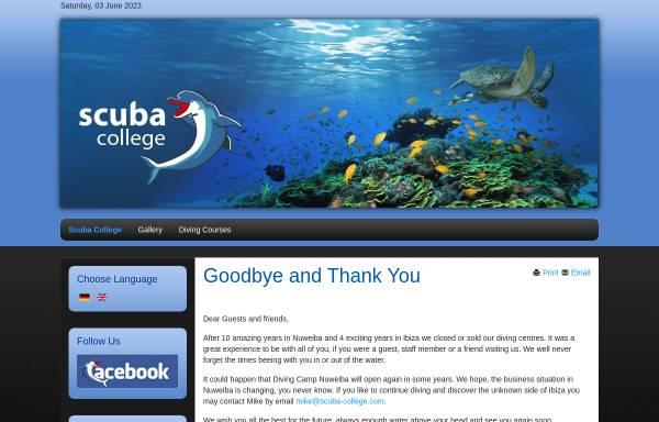 Vorschau von www.scuba-college.com, Diving Camp Nuweiba