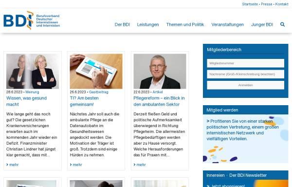 Vorschau von www.bdi.de, Berufsverband Deutscher Internisten (BDI)