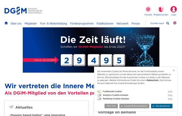 Vorschau von www.dgim.de, Deutsche Gesellschaft für Innere Medizin (DGIM)
