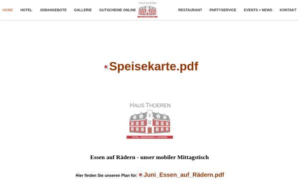 Vorschau von www.hotel-thoeren.de, Hotel-Restaurant Haus Thoeren in Kerken-Aldekerk
