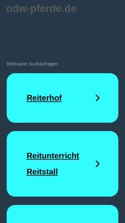 Vorschau der mobilen Webseite www.odw-pferde.de, Pferdezuchtverein Odenwald/Starkenburg e.V.