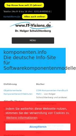 Vorschau der mobilen Webseite www.it-visions.de, komponenten.info