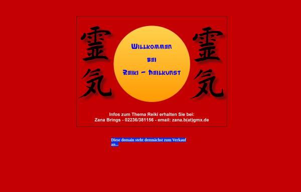 Vorschau von www.reiki-heilkunst.de, Zana B. Brings, Reiki- und Seminarzentrum