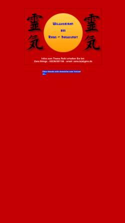 Vorschau der mobilen Webseite www.reiki-heilkunst.de, Zana B. Brings, Reiki- und Seminarzentrum