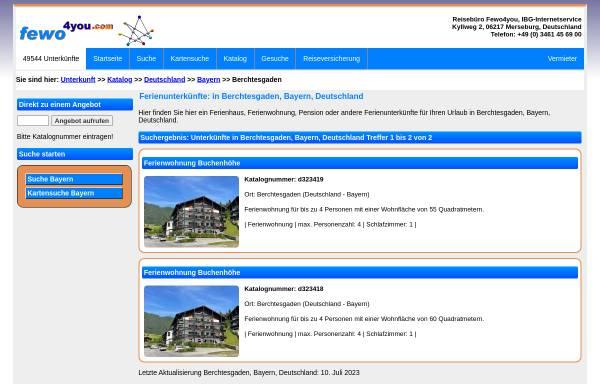 Vorschau von www.fewo4you.com, Gastgeberverzeichnis Berchtesgaden