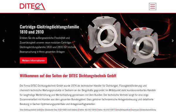 Vorschau von www.ditecgmbh.de, Ditec Dichtungstechnik GmbH
