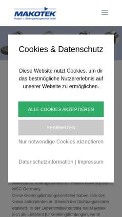 Vorschau der mobilen Webseite www.makotek.at, Makotek Mayerhofer OEG