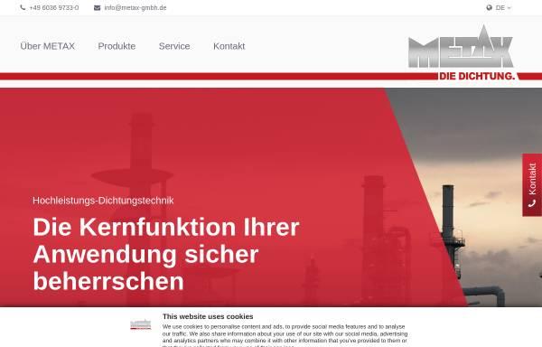 Vorschau von www.metax-gmbh.de, Metax Kupplungs- und Dichtungstechnik GmbH