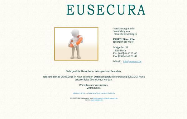 Vorschau von www.eusecura.de, Eusecura - Bernhard Pohl