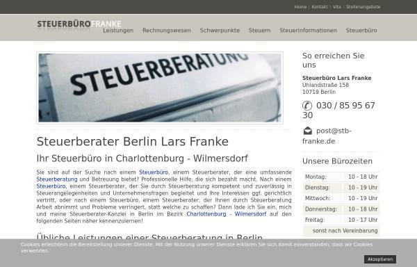 Vorschau von www.stb-franke.de, Steuerbüro Franke