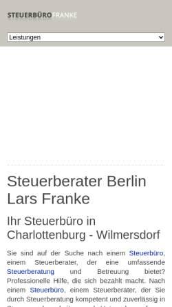 Vorschau der mobilen Webseite www.stb-franke.de, Steuerbüro Franke