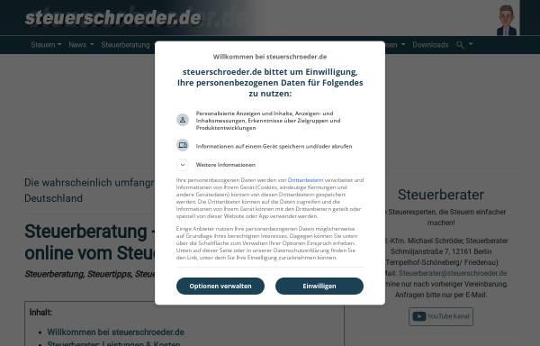 Vorschau von www.steuerschroeder.de, Steuerberater Michael Schröder