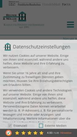 Vorschau der mobilen Webseite hegner-moeller.de, Hegner & Möller GmbH