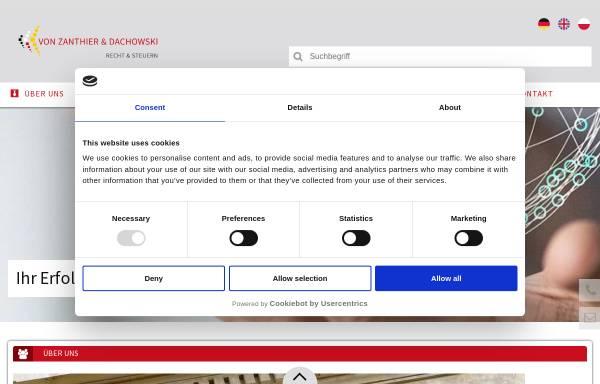 Vorschau von vonzanthier.com, Von Zanthier & Schulz