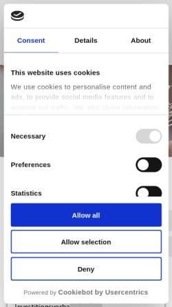 Vorschau der mobilen Webseite vonzanthier.com, Von Zanthier & Schulz