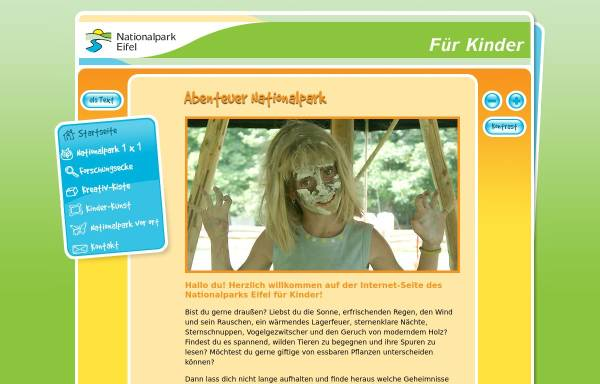 Vorschau von www.kinder.nationalpark-eifel.de, Nationalpark für Kinder