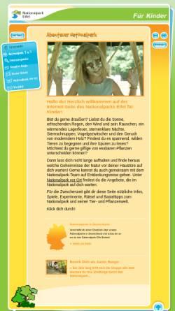 Vorschau der mobilen Webseite www.kinder.nationalpark-eifel.de, Nationalpark für Kinder