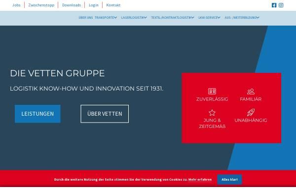 Vorschau von www.vetten-online.de, Gebr. Vetten Transporte GmbH & Co.