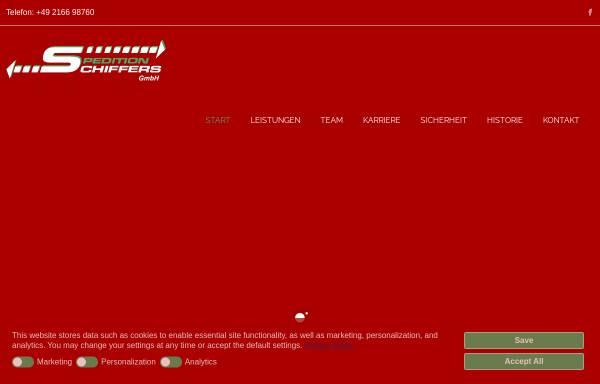 Vorschau von www.spedition-schiffers.de, Spedition Schiffers GmbH