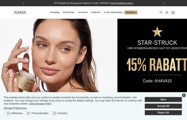 Vorschau von www.ahava.de, AHAVA Cosmetics GmbH