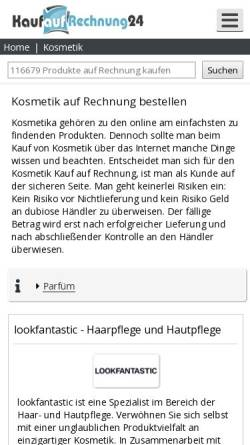 Vorschau der mobilen Webseite www.mhb-cosmetics.de, MHB-Cosmetics GmbH