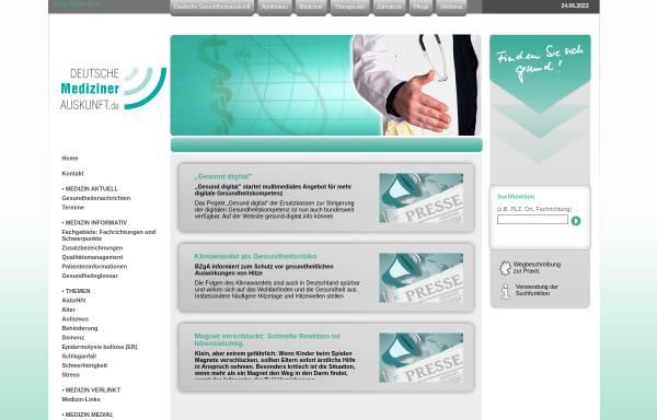 Vorschau von www.deutsche-medizinerauskunft.de, Deutsche Medizinerauskunft