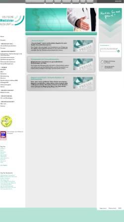 Vorschau der mobilen Webseite www.deutsche-medizinerauskunft.de, Deutsche Medizinerauskunft