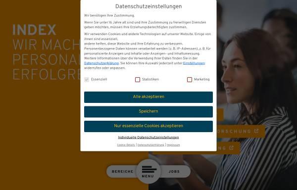 Vorschau von www.index.de, Index Internet und Mediaforschung GmbH