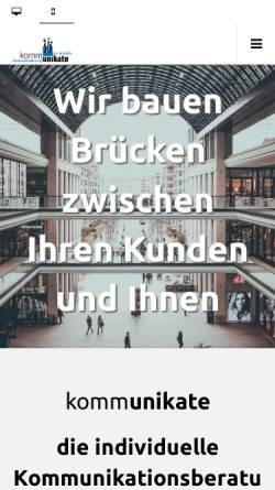 Vorschau der mobilen Webseite www.kommunikate.de, Kommunikate GmbH