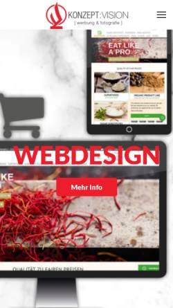 Vorschau der mobilen Webseite www.konzeptvision.de, Konzept:Vision B & P GmbH