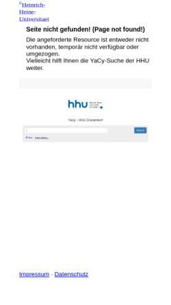 Vorschau der mobilen Webseite www.ub.uni-duesseldorf.de, DVB Medizin