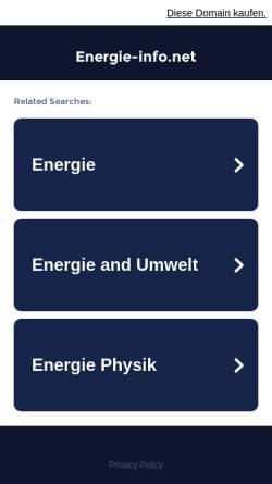 Vorschau der mobilen Webseite www.energie-info.net, Energie-info.net