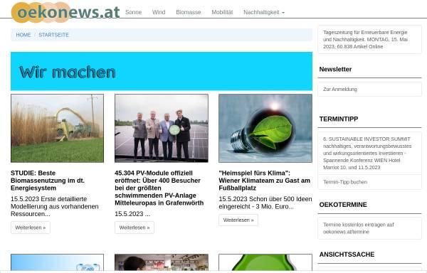 Vorschau von www.oekonews.at, Oekonews.at