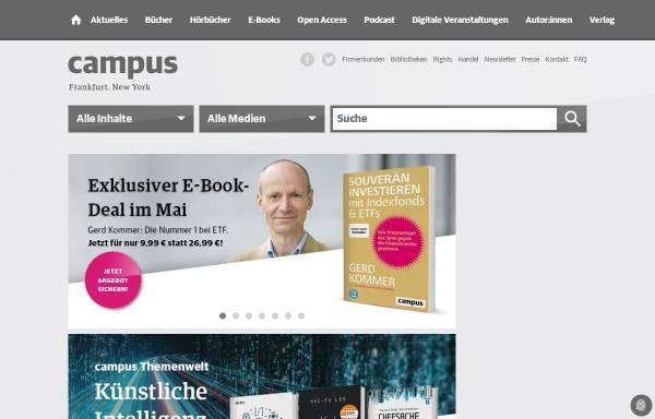 Vorschau von www.campus.de, Campus Verlag, Inh. Thomas Carl Schwoerer