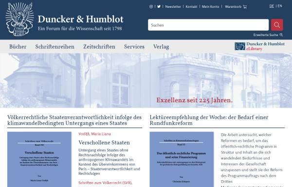 Vorschau von www.duncker-humblot.de, Duncker & Humblot GmbH