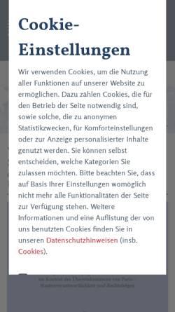 Vorschau der mobilen Webseite www.duncker-humblot.de, Duncker & Humblot GmbH