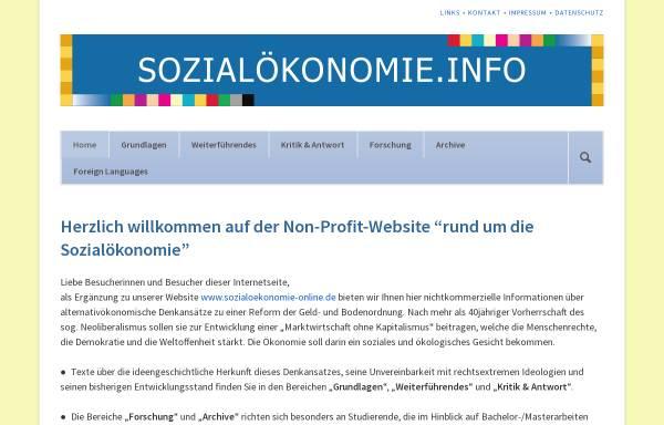 Vorschau von www.sozialoekonomie.de, Gauke Verlag