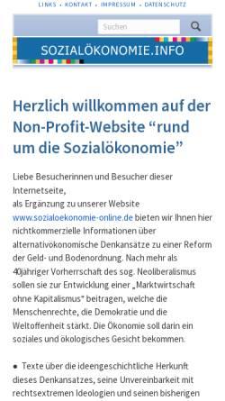 Vorschau der mobilen Webseite www.sozialoekonomie.de, Gauke Verlag